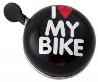 Liix Ding Dong Fahrradklingel I Love My Bike schwarz