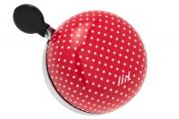 Liix Mini Ding Dong Fahrradklingel Polka Dots rot
