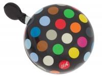 Liix Ding Dong Fahrradklingel Polka Big Dots Mix Black