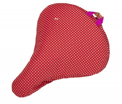 Liix Sattelbezug Polka Dots White Red