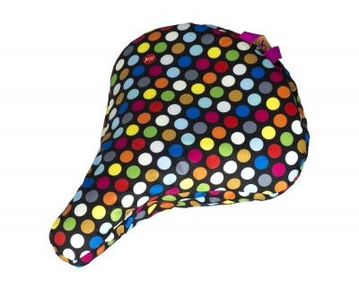 Liix Sattelbezug Polka Big Dots Mix Black