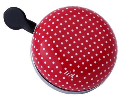 Liix Ding Dong Fahrradklingel Polka Dots White Red