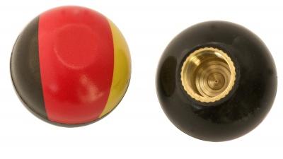 TrikTopz Ventilkappen schwarz-rot-gold