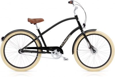 Electra Townie Balloon 3i EQ Men Black mit LED Beleuchtung