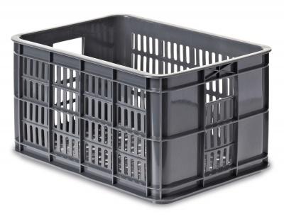 Basil Fahrradkasten Crate S industriegrau