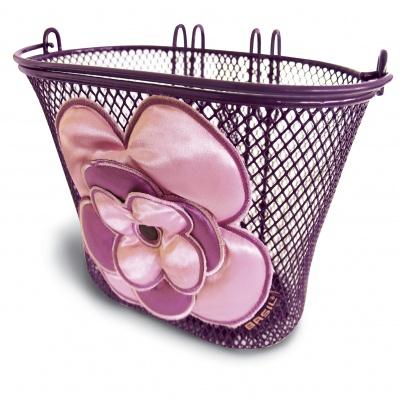 Basil Kinder-Fahrradkorb Jasmin für Lenker lila/rosa
