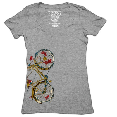 Clockwork Gears T-Shirt Women Cycling Fish