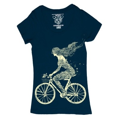 Clockwork Gears T-Shirt Mermaid Bike Women
