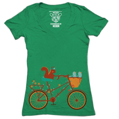 Clockwork Gears T-Shirt Women Tree Cycle