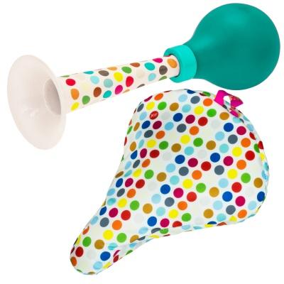 Liix Set Ballhupe Pretty Horn und Sattelbezug Polka Dots Mix