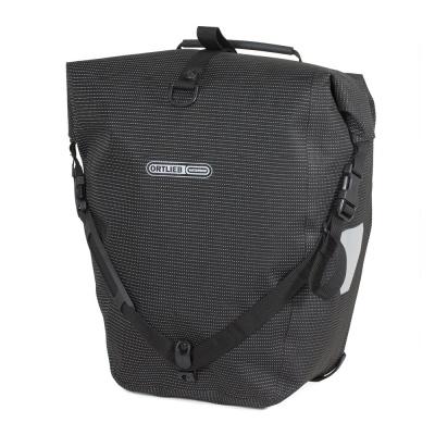 Ortlieb Fahrradtaschen Back-Roller High Visibility Schwarz-Reflektierend
