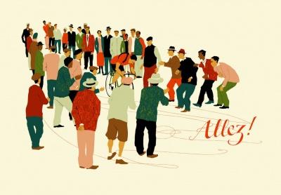 """Allez!"" Kunstdruck (Eliza Southwood)"