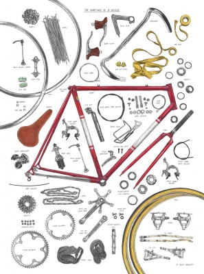 """The Anatomy of a Bicycle"" Kunstdruck (David Sparshott)"