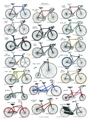 """Bicycles"" Kunstdruck (David Sparshott)"