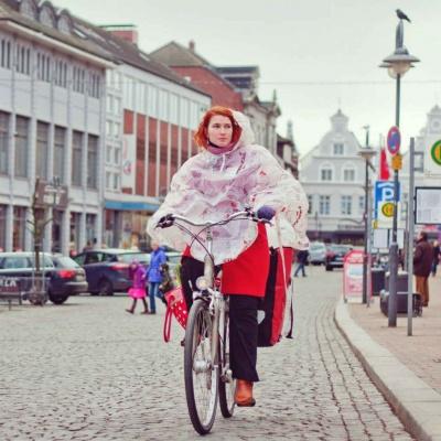 Equilicua Bike Cape Mit Print 100% Kompostierbar