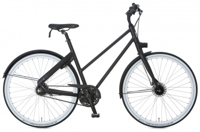 Cortina Urban Bike Blau Women 7-Gang Black Matt