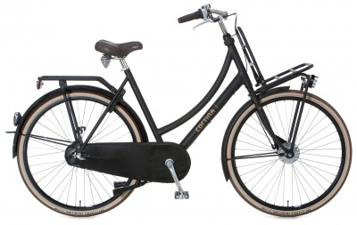 Cortina Transport U4 3-Gang Frauenrad Jet Black Matt