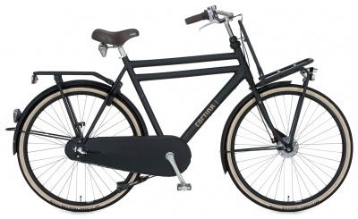 Cortina Transport U4 3-Gang Herrenrad Jet Black Matt