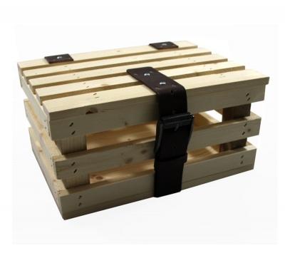 Houtenfietstassen Fahrrad Transportkiste Holz für Gepäckträger Mini mit Deckel
