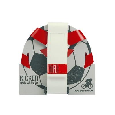 Fahrer Fahrrad-Ballhalter Kicker Rot/Weiß