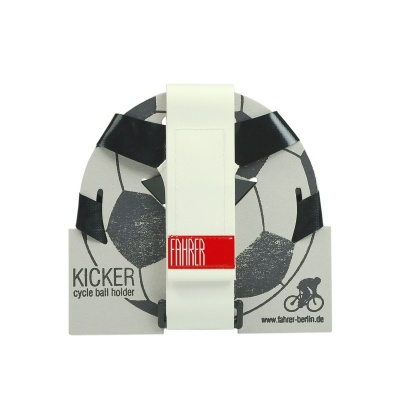 Fahrer Fahrrad-Ballhalter Kicker Schwarz/Weiß