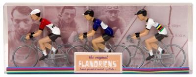 Flandriens Miniatur-Radfahrer Eddy Merckx I Metall Handbemalt (3 Stück)