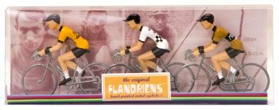 Flandriens Miniatur-Radfahrer Eddy Merckx II Metall Handbemalt (3 Stück)