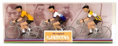 Flandriens Miniatur-Radfahrer Bernard Hinault Metall Handbemalt (3 Stück)