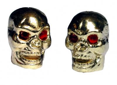 TrikTopz Ventilkappen Totenkopf Rote Augen Gold