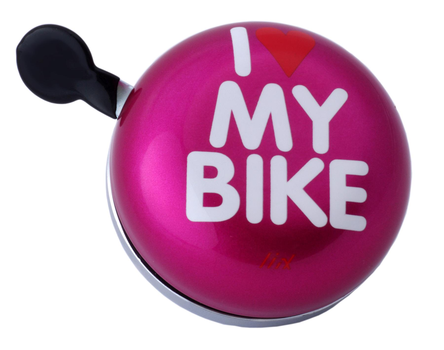 Liix Ding Dong Fahrradklingel I Love My Bike pink