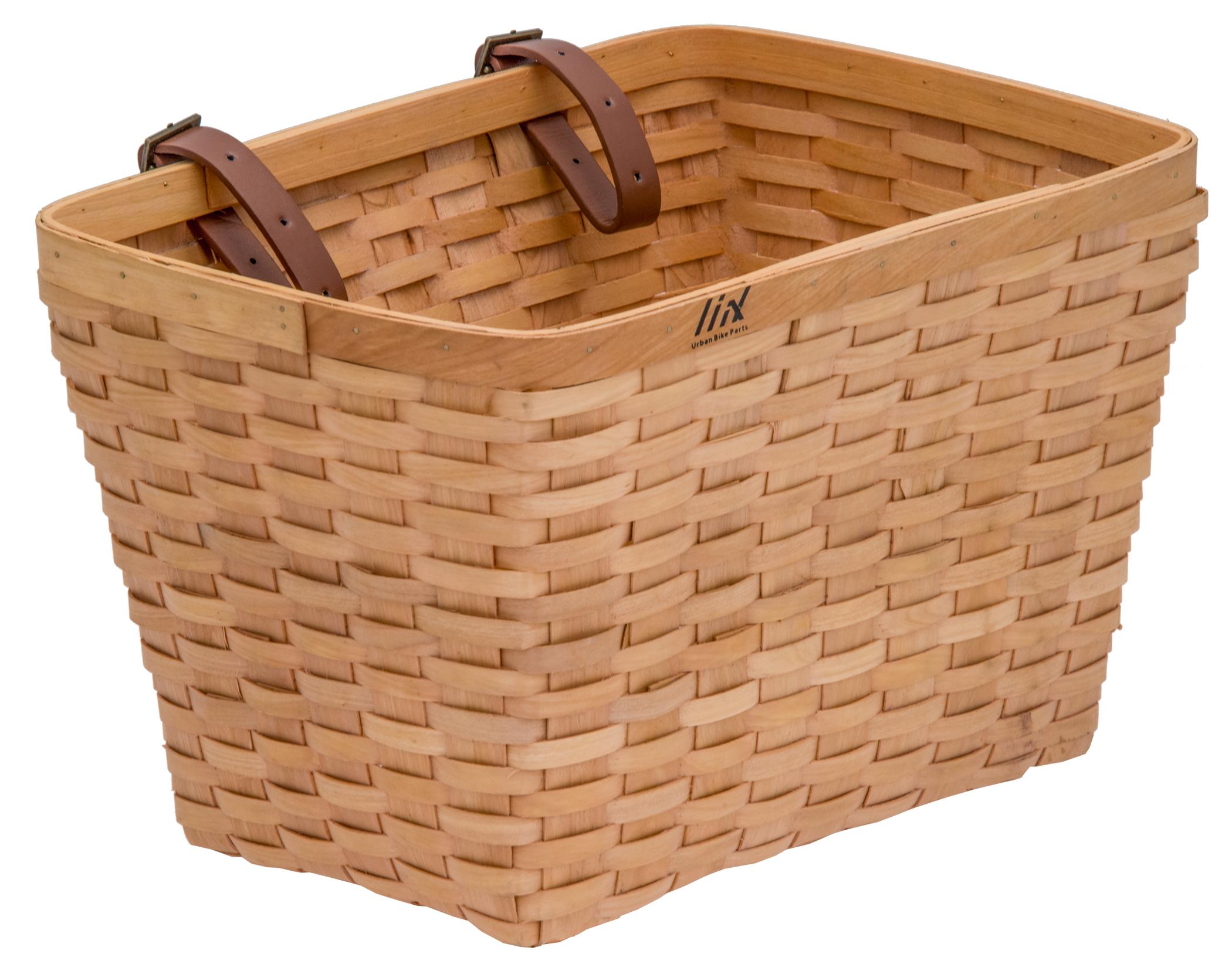 Liix Woven Wooden Basket Holzkorb für den Lenker