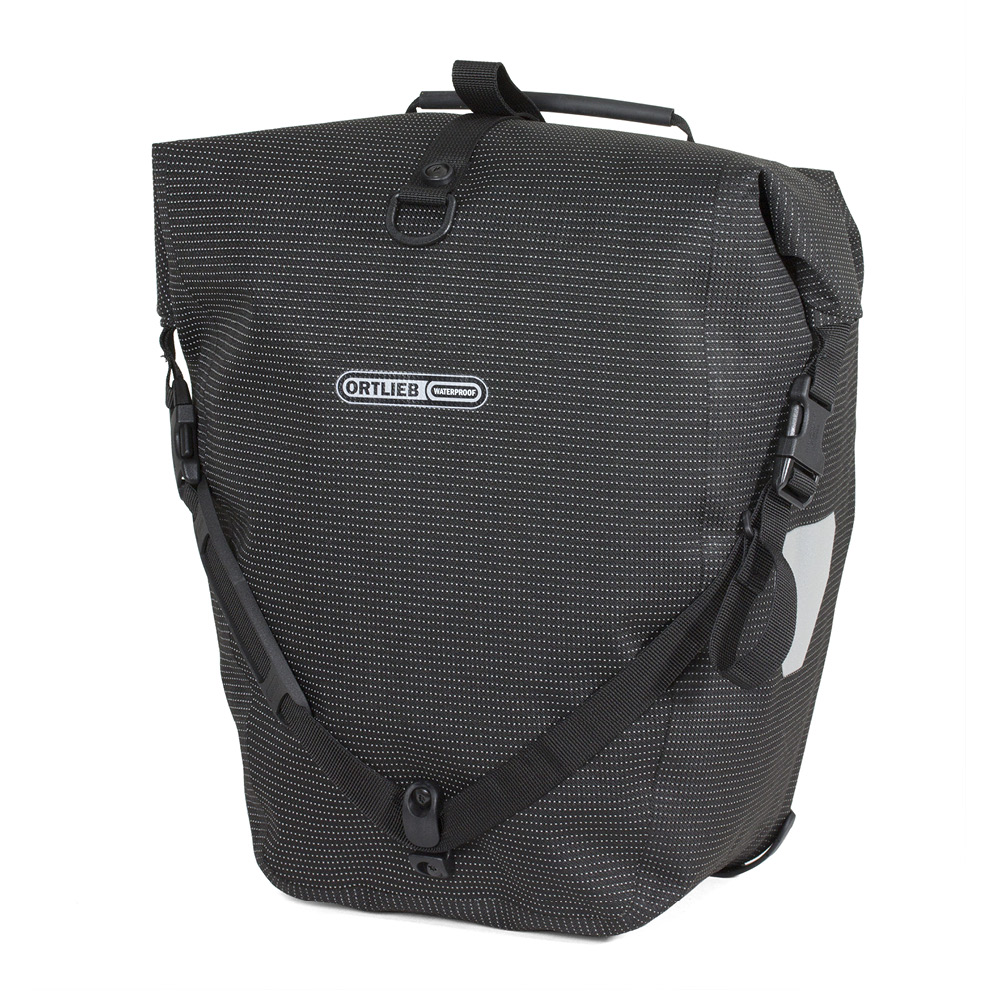 ortlieb fahrradtaschen back roller high visibility schwarz. Black Bedroom Furniture Sets. Home Design Ideas