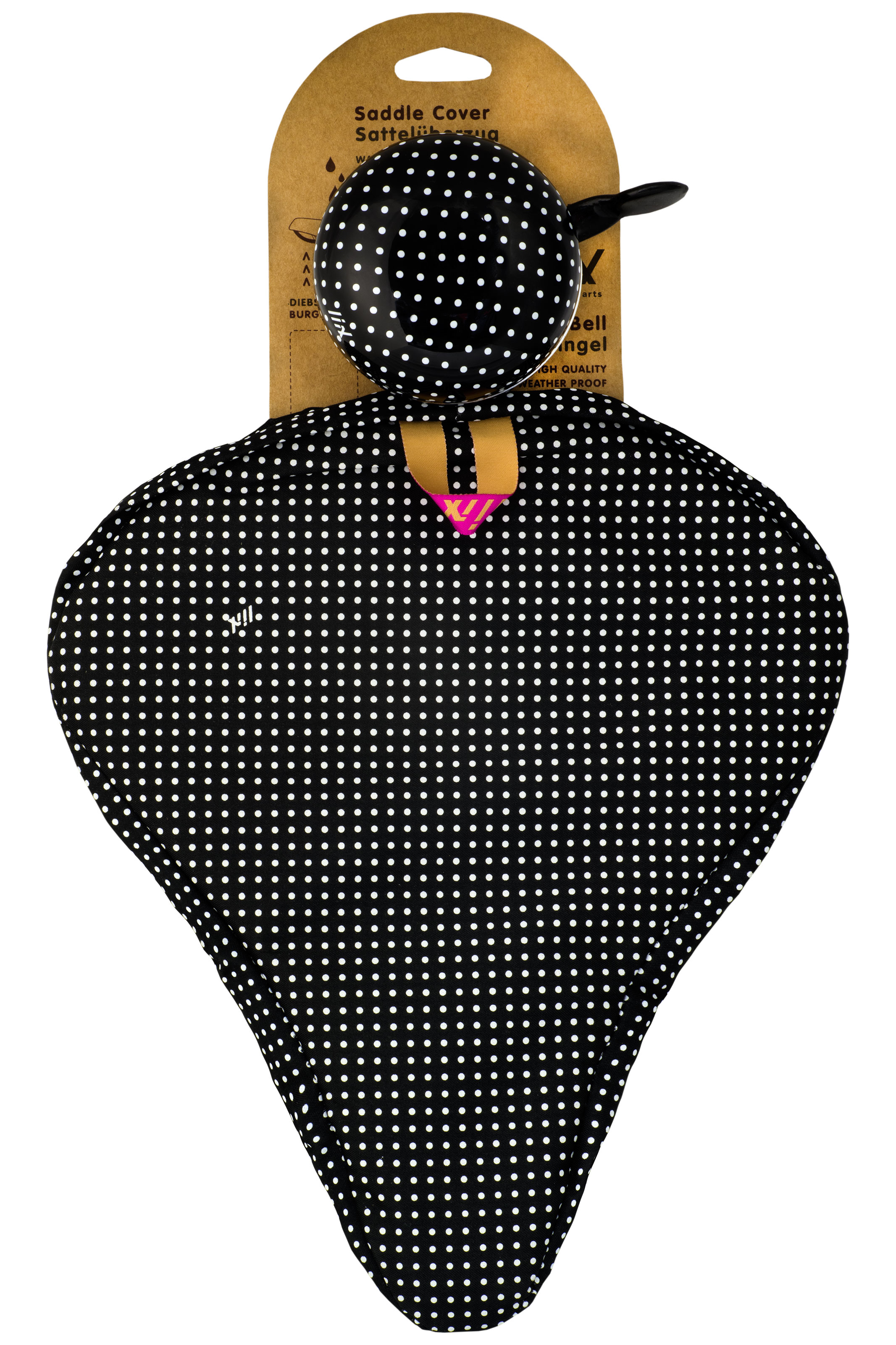Liix Beauty Set Polka Dots White Black