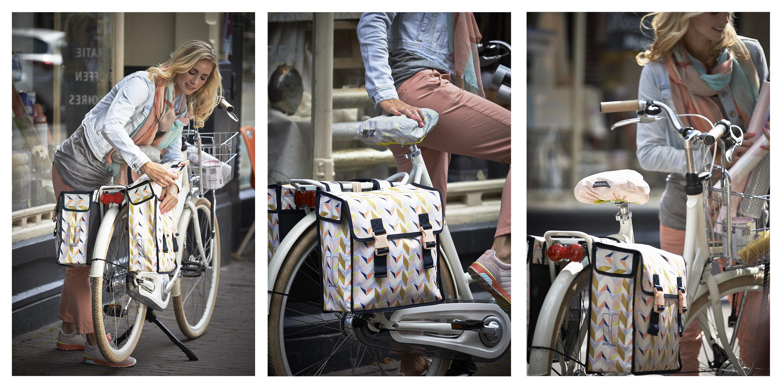 basil fahrrad doppelpacktasche triangle multicolor beim fahrradfachh ndler online kaufen. Black Bedroom Furniture Sets. Home Design Ideas