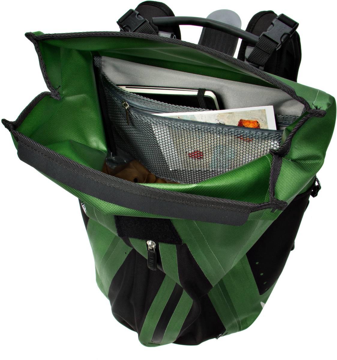 ortlieb fahrradtasche rucksack vario ql2 1 moosgr n beim fahrradfachh ndler kaufen. Black Bedroom Furniture Sets. Home Design Ideas