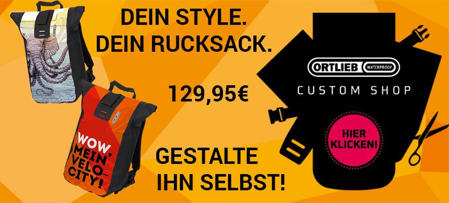 Gestalte deinen eigenen Ortlieb Rucksack
